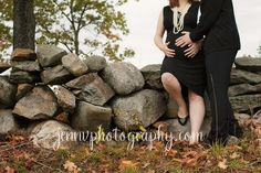 maternity photo; like the idea of getting dressed up against a rugged background