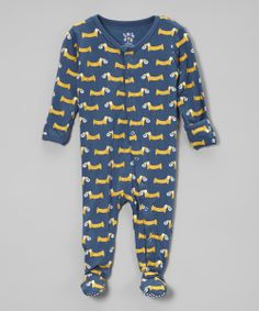 03f2a295ed139d KicKee Pants Twilight Pretzel Pup Footie - Infant