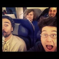 Who knew flying could be so much fun! Will Farquarson, Kyle Simmons, Nothing But Thieves, My Silence, Dan Smith, Bon Iver, Chris Wood, Royal Blood, Pete Wentz