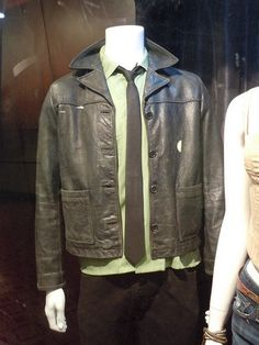 Hollywood Movie Costumes and Props: Kenny Wormald and Julianne Hough Footloose remake costumes on display. Julianne Hough Footloose, Footloose Remake, Footloose Original, Footloose Musical, Footloose 2011, Black Biker Jacket, Leather Jacket, Kenny Wormald, Red Cowboy Boots