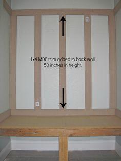 Do It Yourself Mudroom Locker | board and batten , mudroom bench , mudroom wall