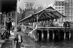 Blake Pier, at the end of Pedder Street in 1959 在大廈上可見循環日報的招牌