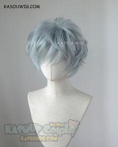 My hero academia Tomura Shigaraki grayish blue messy short cosplay wig Anime Wigs, Anime Hair, Cosplay Hair, Cosplay Wigs, Kawaii Hairstyles, Cute Hairstyles, Cosplay Kawaii, Kawaii Wigs, Pelo Anime