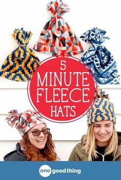 ddf404a3609 Make A Cozy Fleece Hat In 5 Minutes Flat! · Jillee