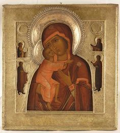 17th century Russian Theodorov (Feodorov) icon, copy of the one painted by Holy Evangelist Luke