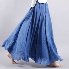 Dance with wind Lenin Skirt - Blue