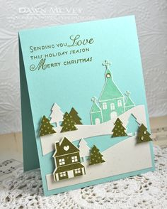 Sending You Love Card by Dawn McVey for Papertrey Ink (September 2013)