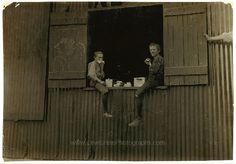 Lunch Time, Economy Glass Works, Morgantown, W. Va. 1908 By Lewis Wickes Hine