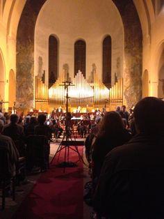 Saint Gabrielle at Porte de Vincennes. Fabulous acoustics inside the church for classical concert.