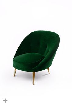 MALAY Armchair  BRABBU, contemporary furniture, Fabric: velvet; Legs: aged brass  http://brabbu.com/upholstery/malay-armchair.php