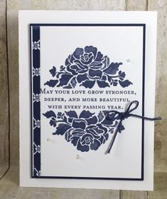 """By BJ Peters. Uses stamp set """"Floral Phrases"""" and """"Floral Boutique Designer Series Paper"""" by Stampin' Up."""