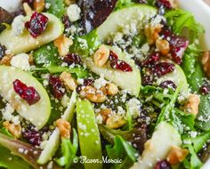 Apple Cranberry Walnut Salad | Recipe | Cranberry Walnut Salad, Walnut ...