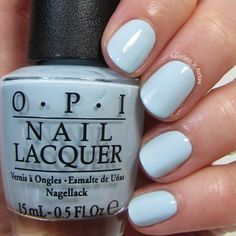 OPI It's a Boy! This baby blue is a true bundle of joy! I'm showing three coats with top coat.