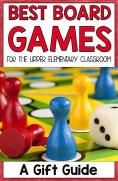 On the lookout for the best board games for kids? Then this is the post for you! You'll find great educational games that any upper elementary classroom teacher or parent will love. These work great for teaching various strategy and critical thinking skil Classroom Board, Classroom Games, Math Games, Classroom Teacher, Recess Games, Math Activities, Classroom Management, Communication Activities, Indoor Activities