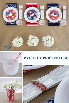This place setting captures that 4th of July feeling down to the last detail!