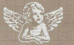 Terri Woodward's media statistics and analytics Stitch And Angel, Cross Stitch Angels, Cross Stitch Baby, Cross Stitch Alphabet, Cross Stitch Charts, Cross Stitch Patterns, Filet Crochet, Crochet Chart, Cross Stitching