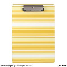 Shop Yellow stripes clipboard created by FarmingBackwards. Back To School Supplies, Shades Of Yellow, Clipboard, Staying Organized, Yellow Stripes, Lemon, Hands, Organization, Lettering