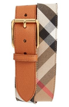 Free shipping and returns on Burberry House Check Belt at Nordstrom.com. Woven cotton textures a check-patterned belt fronted with a pebbled leather buckle strap.