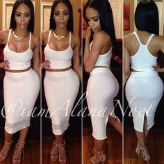 Fitted Black/White Dress Perfect For A All White Affair. Find It ...
