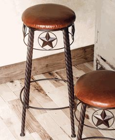 Lone Star Metal Barstools (Set of 2) - 32 Inch