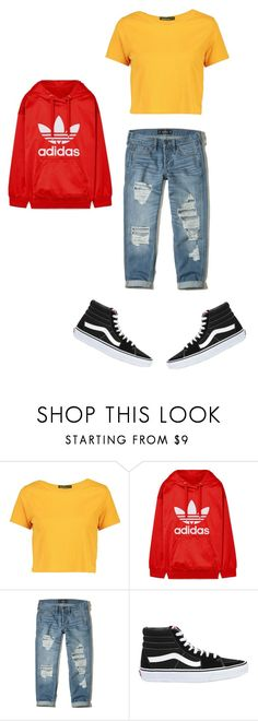 """""""S k y p i n g W i t h U n c l e i n C a l i"""" by ac022304 on Polyvore featuring Boohoo, adidas Originals, Hollister Co. and Vans"""