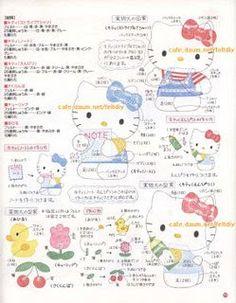 !!!!♥ Feltro-Aholic ♥ Moldes e pap em feltro e feltro estampado!: Moldes da Hello Kitty