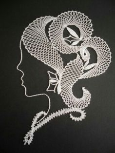 Lip Stencil, Stencils, Lace Art, Lacemaking, Burlap Crafts, Lace Jewelry, Machine Embroidery Patterns, Bobbin Lace, Lace Detail