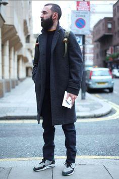 컬러별로 보는 남자 겨울코트 코디 패션[레드/카키/모노톤등의 색] :: Men's Look book