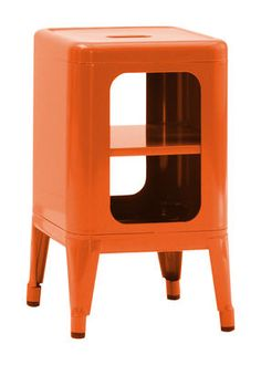 Storage unit - Lacquered steel - H 50 cm by Tolix Steampunk Bedroom, Vitra Design Museum, Orange Interior, Laque, Inexpensive Furniture, Sheet Metal, Industrial Furniture, Design Trends, Design Design