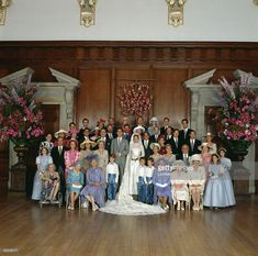Wedding of Prince Pavlos of Greece to Marie-Chantal Miller. Reception at Hampton Court Palace