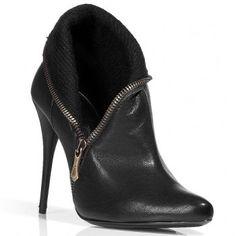 $201  BALMAIN Black Side Zip Booties