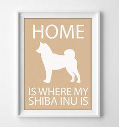 8x10 Shiba Inu Wall Art Illustrated Dog Art Shiba Inu by #pigknit, $8.00