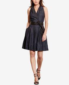 Lauren Ralph Lauren Fit & Flare Denim Dress