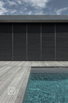 Wellness dům - MIRAMARI DESIGN Flat Roof, House In The Woods, Shutters, Blinds, My Design, Studios, Wellness, Curtains, Interior Design