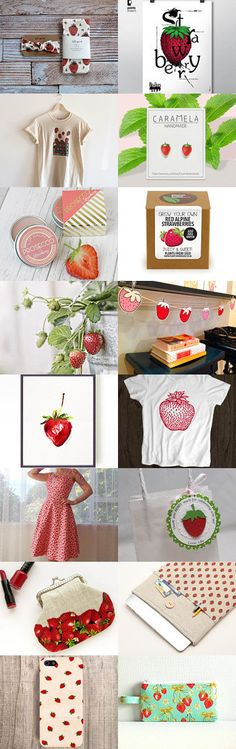 strawberries by Clotilde Gioufi on Etsy Strawberries, Holiday Decor, Unique, Etsy, Design, Home Decor, Strawberry Fruit, Decoration Home, Room Decor
