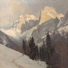 Edward Harrison Compton (1881 –1960) - Alpine landscape.