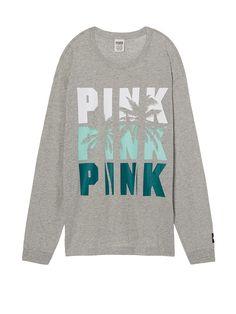 Campus Long SleeveTee - PINK - Victoria's Secret