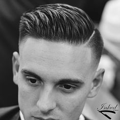 Wake Up and Smell the Barbicide Modern Mens Haircuts, Haircuts For Men, Fancy Hairstyles, Hairstyles Haircuts, Hair And Beard Styles, Curly Hair Styles, Side Part Haircut, Barber Haircuts, Faded Hair