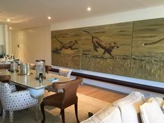 Oil painting house decoration project House Painting, Conference Room, Dining Table, Oil, Decoration, Projects, Furniture, Home Decor, Decor