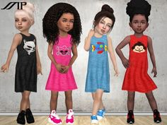 The Sims Resource: Toddler Summer Dress N1 by MartyP • Sims 4 Downloads