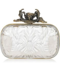 is so Cool...  Fashion Accessory Iris Plexiglas Box Clutch by Alexander McQueen