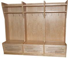 NHL styled hockey gear storage lockers