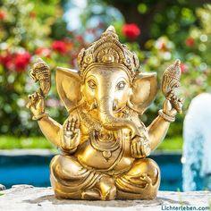 Ganesha ist der richtige Gott in Krisenzeiten nutze ihn um deine Hindernisse zu beseitigen Ganesha Statue 23cm Messing 4.2kg #lichterleben