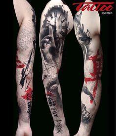 From the latest issue of Tattoo Energy magazine work by Volko Merschky and Simone Pfaff - Buena Vista Tattoo Club Germany @buenavistatattooclub #tattoo #trashpolka #tattoolife #tattooenergy #tattoolifegallery #tattoolifemagazine by tattoolifemagazine
