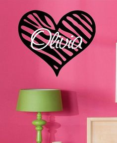 Personalized Damask With Name Vinyl Wall Decal Art Part 91