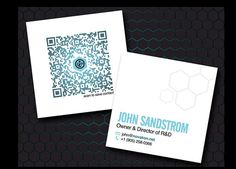 mini square business cards with QR code