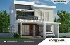 Two Story 1574 sq ft Duplex House Design