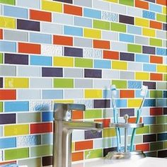 Colorful Backsplash Tile Google Search