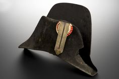 Bicorne hat worn by a French Army surgeon during the Napoleonic Wars c. 1803-1815. [4256x2832]