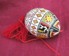 Very nice Ukrainian Easter egg pysanka New Hand made pisanki real blown eggs